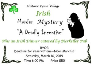 March Murder Mystery Dinner @ Historic Lyme Village | Bellevue | Ohio | United States