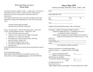 Pioneer Days 2019 registration form